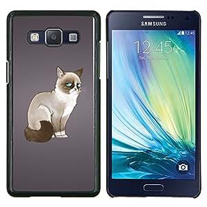 EJOOY---Cubierta de la caja de protección para la piel dura ** Samsung Galaxy A5 A5000 ** --Divertido enojado enojado del gato