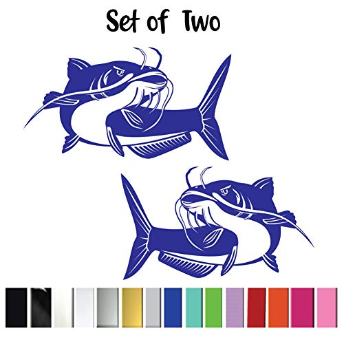 (2) Two Catfish Vinyl Graphic Decals || High Quality Outdoor Rated Vinyl
