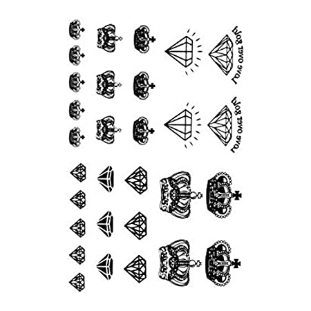 Vollter 10pcs Tatuaje de la corona de papel / tijeras Sticker ...