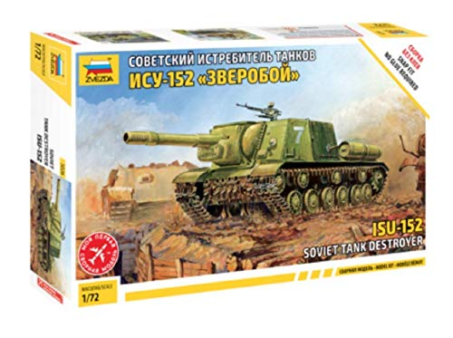 Zvezda Models ISU-152 Soviet Tank Destroyer Snap Fit Model Kit