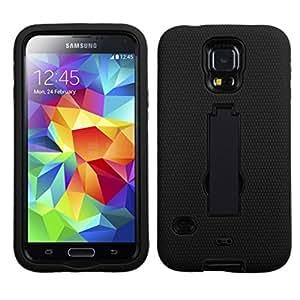 Asmyna Samsung Galaxy S5 simbiosis soporte de la carcasa del protector - empaquetado al por menor - Negro