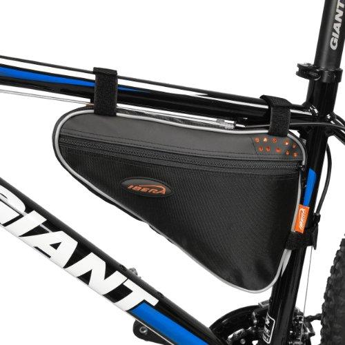 Ibera Bicycle Triangle Frame Bag Bike Top Tube Cycling Corner Pouch Black Large