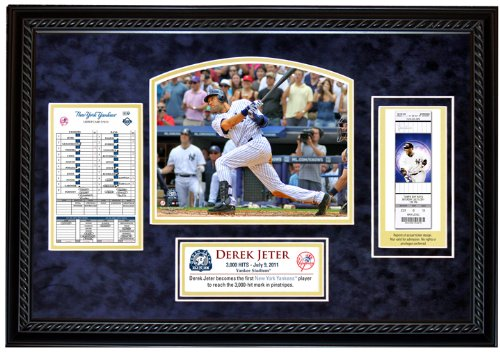 MLB New York Yankees Derek Jeter 3,000th Hit Replica Ticket Framed Collage (Mlb Replica Collectibles)