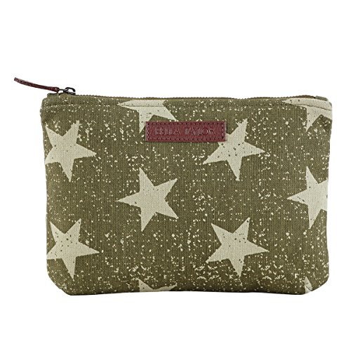 Bella Taylor Vintage Star Olive Personal Pouch Set of 2