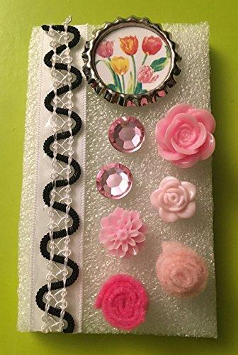 - Metal Bottle Cap Tulip Tack, Resin Flower Tacks, Felt Tacks, Resin Rhinestone, Memo Board, Bulletin/Cork Board, Hostess Gifts, Flowers, Shades of Pink,Dorm Decor