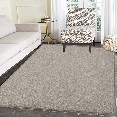 Taupe Area Rug Carpet Italian Style Rich Flower Motifs Vintage Antique Effects Artistic Ornamental Swirls Dots Customize Door mats for Home Mat 2'x3' Tan