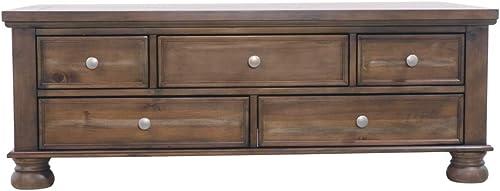 Signature Design by Ashley – Flynnter Sofa Table w Storage, Medium Brown