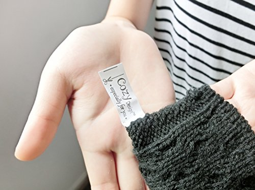 Cozy Design Women's Woolen and Cony Hair Knitted Long Gloves Grey by Cozy Design (Image #4)