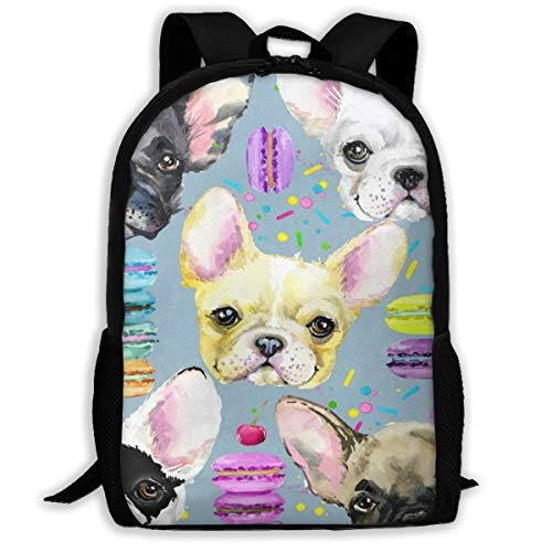 Casual Boys Daypack Backpacks For Middle School Watercolor Chihuahua Dog Cherry Donut Travel Laptop Backpack Bookbag For Girls Boys Men Women