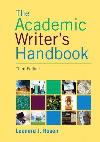 Academic Writer's Handbook (3rd Edition)