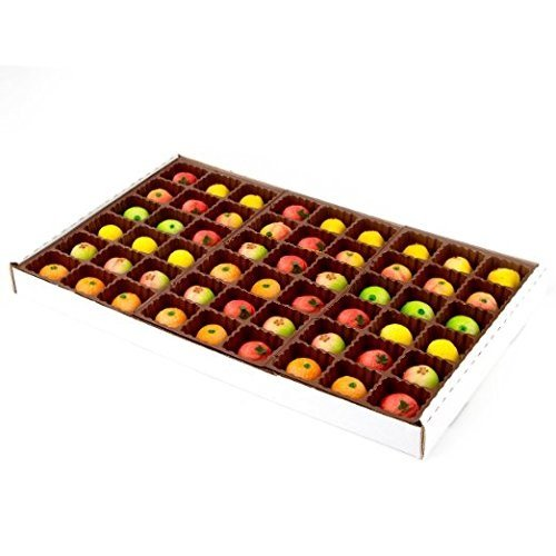Gifty World Gourmet Marzipan 54-Piece Assorted Fruit Box Holiday Gift (Kosher Marzipan)