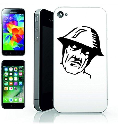 Smartphone Case soldato esercito-Persone Uomo arrabbiato pazzo persona del cappello del casco da indossare per Apple Iphone 4/4S, 5/5S, 5C, 6/6S, 7& Samsung Galaxy S4, S5, S6, S6Edge, S7, S7Edge