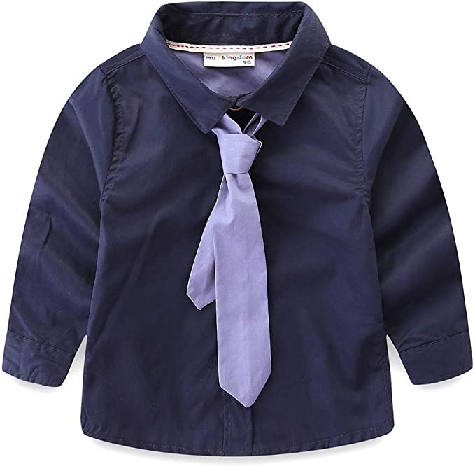 Little Boys Long Sleeves Solid Dress Shirt #JL32 4T, Lilac
