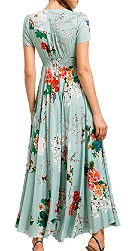 Stylish Maxi Oversized Short Tunic Coolred Women Gown Ball Dress Pattern6 Split Long Sleeves Printing xAnHqq4WP