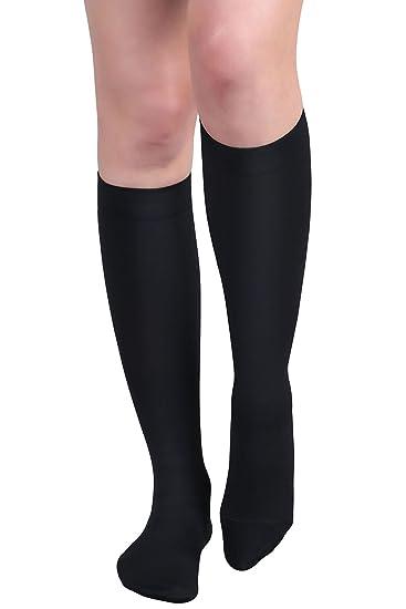 8c6ff95de3a +MD Men and Women Medical Compression Socks Microfiber Opaque Graduated  15-20 mmHg Knee