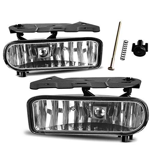 Fog Lights For 02-06 Cadillac Escalade 02-06 Cadillac Escalade EXT 03-06 Cadillac Escalade ESV Driving Bumper Lamps Kit (OE Clear Lens)