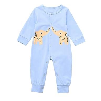 Mitlfuny Niños Niñas Monos de Manga Larga para Bebés Otoño ...