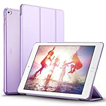 iPad Air 2 Case, iPad Air 2 Cover, iPad Air 2 Cases and Covers, ESR Yippee Color Series Smart Cover+Transparent Back Cover [Auto Wake Up/Sleep Function]for[2014 Release] iPad Air 2(Fragrant Lavender)