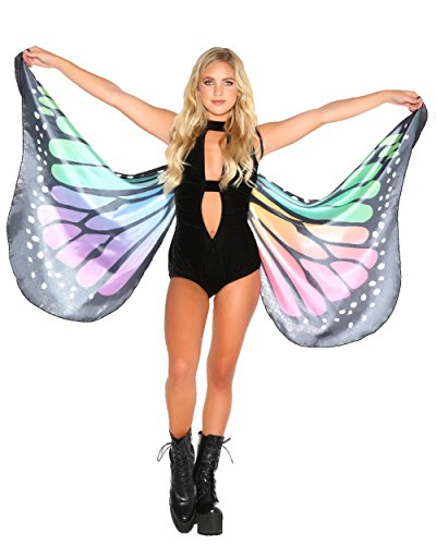 [iHeartRaves Butterfly Rave Costume Wings (Rainbow)] (Creative Costume Ideas For Men)