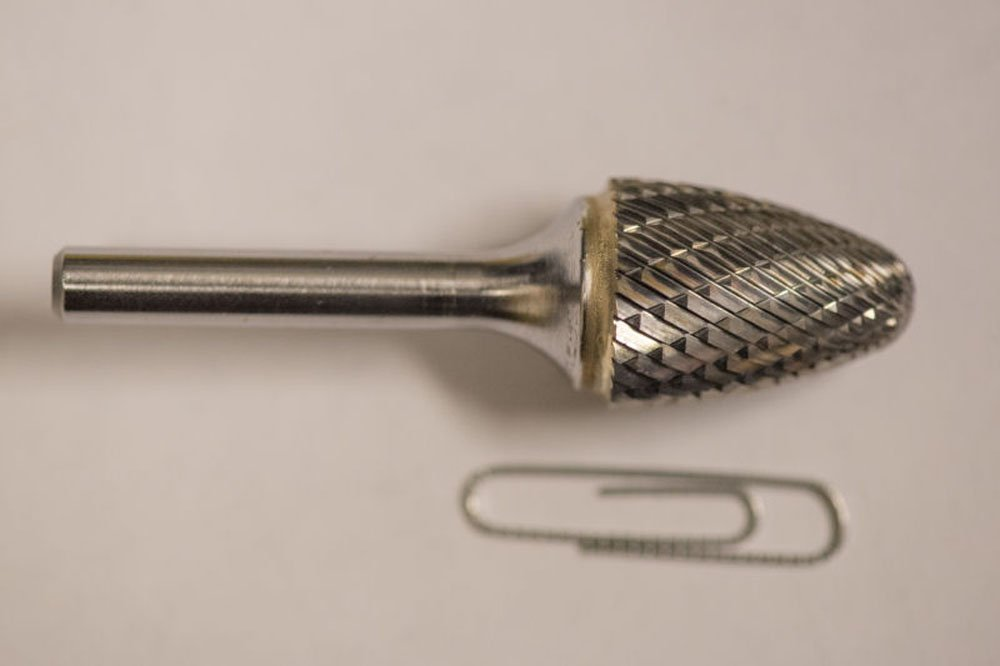 SF-7 Tree Radius End Shape Carbide Burr Die Grinder Bit Double Cut
