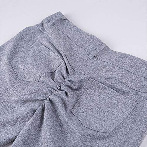 Haute Hiver Droite Push Up Mode Femmes Pantalons Solide lastique Automne Hip Sexy Gris Taille De Femmes Solide Pantalon Leggings BnCxq6wn5