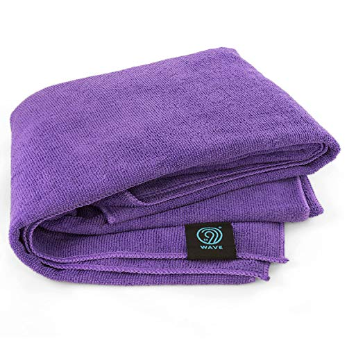 9th WAVE HugTowl Luxuriously Soft Microfiber Travel Towel (X-Large, Purple) - Quick Dry, Antibacterial and Lightweight. Take it to The Pool, Camping, Gym, Boating. Gift idea for Women, Men or Kids