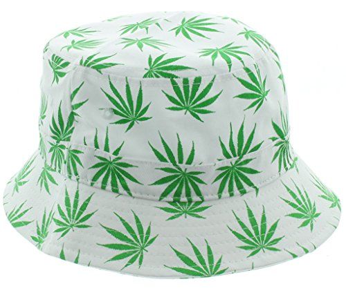 White Weed Bucket Hat - Weed Shades