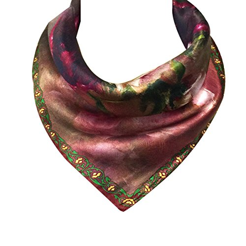 Wrapables Charmeuse Square Scarf Neckerchief