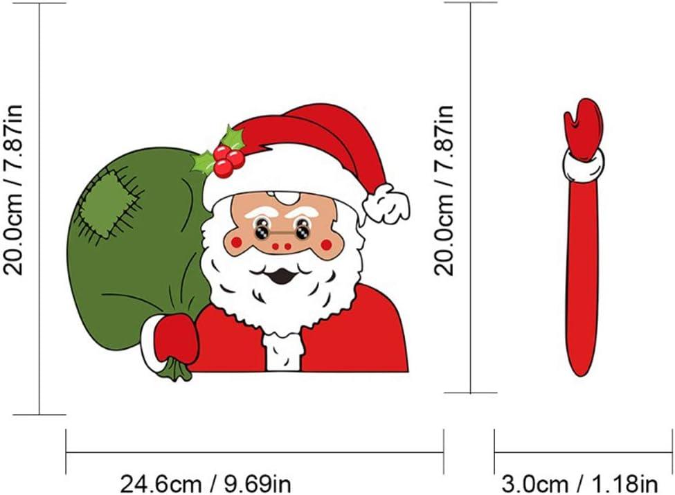 Xinlie Snowman Wiper Santa Snowman for Rear Window Santa Waving Wiper Sticker Tags for Rear Window Wiper Stickers Christmas Car Rear Wiper Sticker for Car Window Decals Styling Decor 2 Pieces