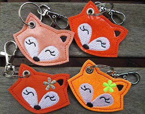 FUCHS mit Namen personalisierbar Schlüsselanhänger Taschenanhänger tolles Geschenk z. Geburtstag Einschulung Kindergarten