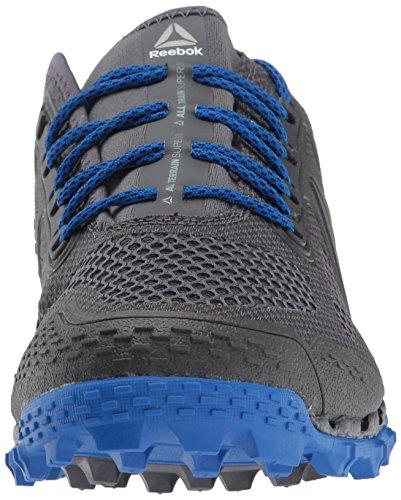 Reebok Hommes Tout Terrain Super 3.0 Trail Runner Noir / Cendres Gris / Vital Bleu
