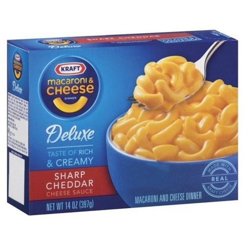 Kraft Macaroni & Cheese With Sharp Cheddar Cheese Sauce 14 OZ (Pack of 24) by Kraft