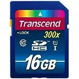 Transcend TS16GSDU1 Scheda di Memoria SDHC da 16 GB, UHS-I 300x, Classe 10