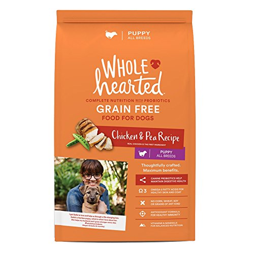 WholeHearted Grain Free Chicken and Pea Recipe Dry Puppy Food, 14 lbs. (Chicken Peas Recipe)