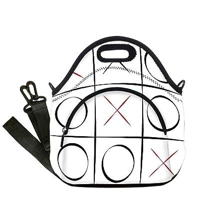 Amazon com: Xo Printing Neoprene Lunch Bag, Tic Tac Toe