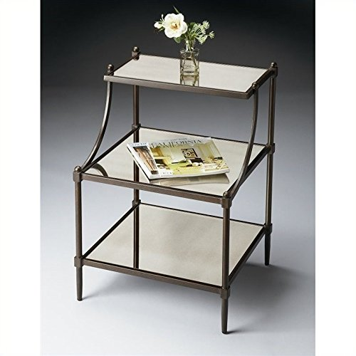 BUTLER 7015025 PENINSULA MIRRORED TIERED SIDE TABLE