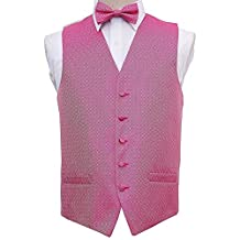 Premium Greek Key Men's Waistcoat, Bow Tie and Hanky 3pc Set