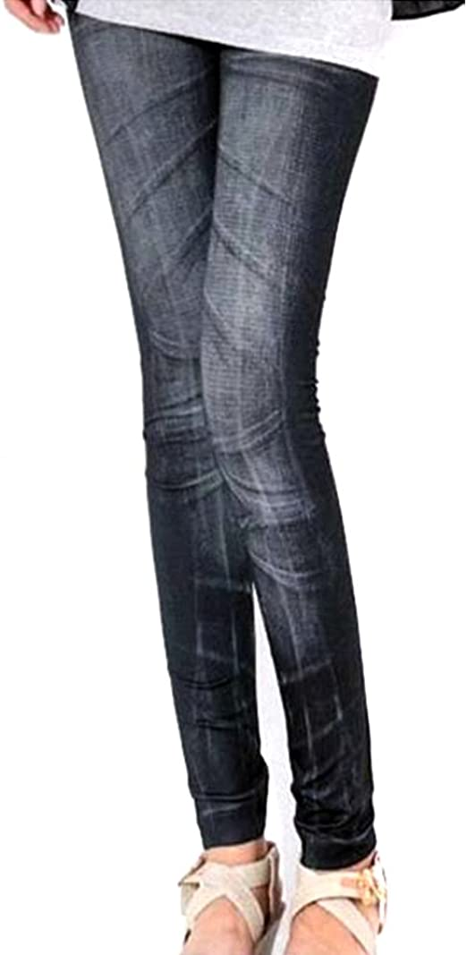 Ladies Leggings Printed Moustache Print Skinny Leggings Womens Casual Pants