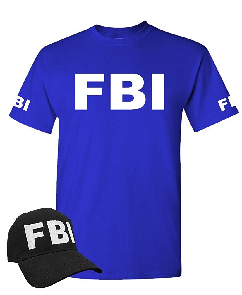 Amazon.com: The Goozler FBI - Federal Bureau Investigation cop - T-Shirt + HAT Combo: Clothing