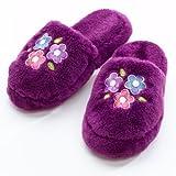 My Twinn Girl's Plush Purple Slippers