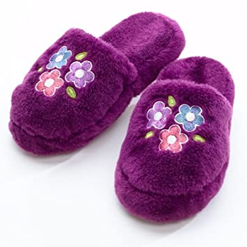 3914569c95b4c My Twinn Girl's Plush Purple Slippers