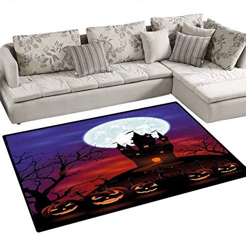 Halloween Floor Mat for Kids Gothic Haunted House