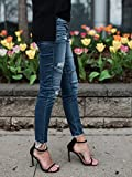 Enjoybuy Womens Jeans Ripped Distressed Skinny