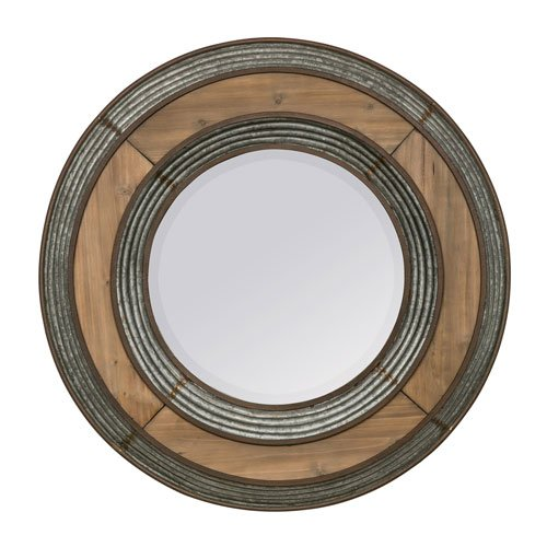 Cooper Classics Ava Brown Round Mirror