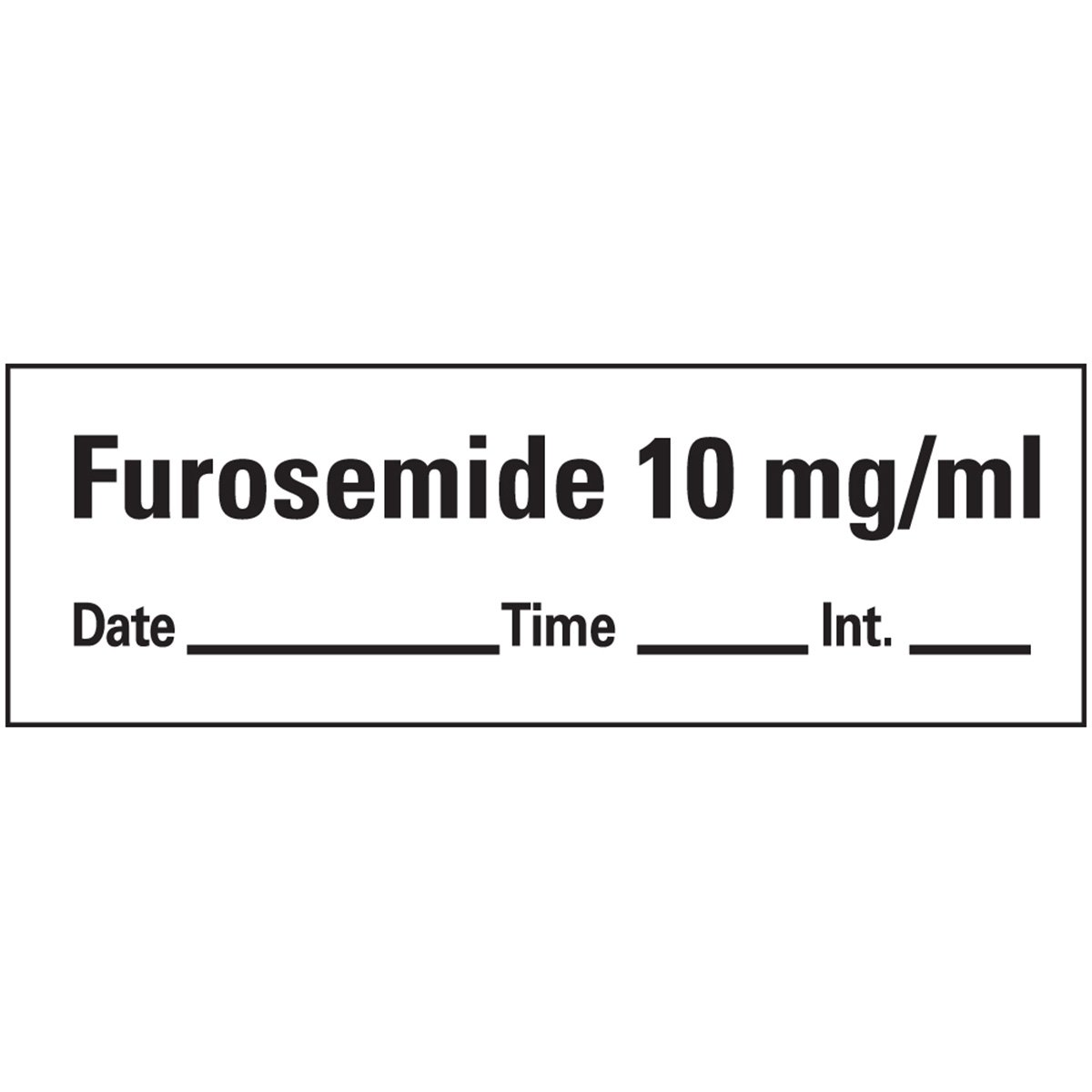 PDC Healthcare AN-134D10 Anesthesia Tape with Date, Time and Initial, Removable, Furosemide 10 mg/mL, 1 Core, 1/2'' x 500'', Imprints White 333 (Pack of 1)