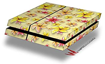 Beach Flowers Yellow Sunshine - Decal Style Skin fits original PS4 Gaming Console