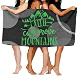 Faith Can Move Mountains 100% Polyester Velvet Absorbent Washcloths 31 X 51 Inches