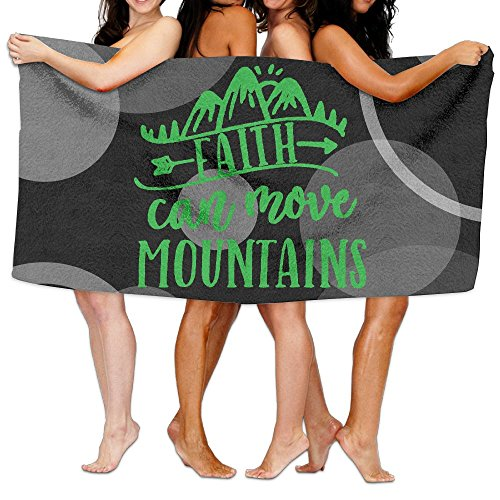 Faith Can Move Mountains 100% Polyester Velvet Absorbent Washcloths 31 X 51 Inches by JYDPROV