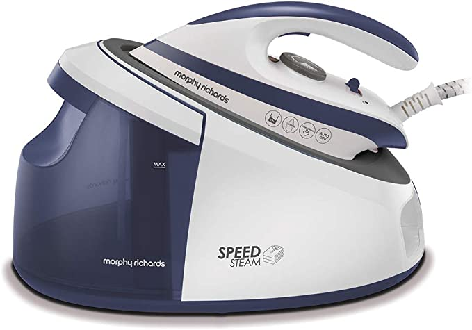 Morphy Richards 333202 Speed Steam Generator Iron Ceramic Soleplate, Lightweight & Fast, Teal