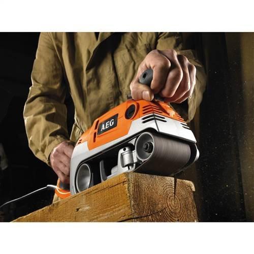 Import Allemagne AEG HBS 1000 E Orange Ponceuse /à Bande Limage 75mm 1010W